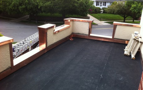 New Flat Roof – Copper Flashing – White Plains New York