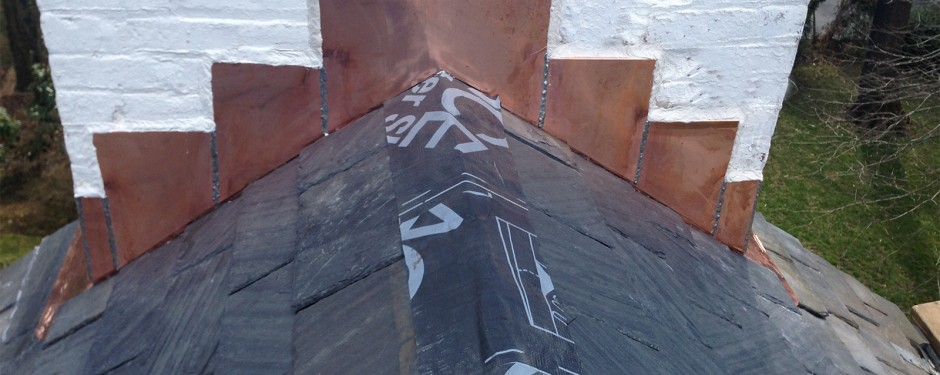 New York Roofer Contractor 187 Copper Chimney On A Slate