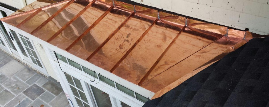 New Copper Bay Roof in Bronxville